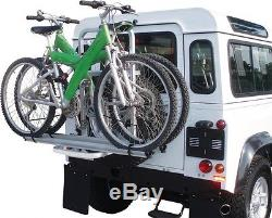 Cycle Carrier Bike Rack 4x4 Landrover Defender Universal Spare wheel mounted
