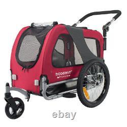 Doggyhut Medium Pet Trailer & Stroller 2 in 1 Folding Bike Dog trailer carrier