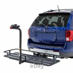Elevate Outdoor BCCB-1169-2 Steel Basket Cargo Carrier with Bike Rack, Fits 2 B