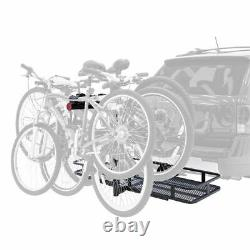 Elevate Outdoor BCCB-1169-4 Steel Basket Cargo Carrier with Bike Rack, Fits 4 B
