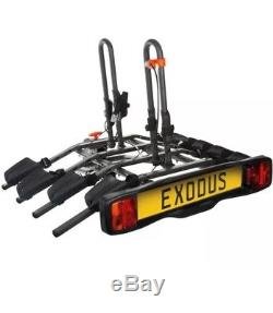 Exodus 4 Bike Platform Car Rear Tow Bar Mounted Tilt Rack Bicycle Cycle Carrier