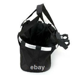 Foldable Bicycle Front Basket Bike Handlebar Basket Pet Carrier Frame Lunch Bag
