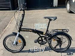 Folding Bike Adult unisex Bicycle 20 Alloy 6 gears carrier Disk brakes 5m UK