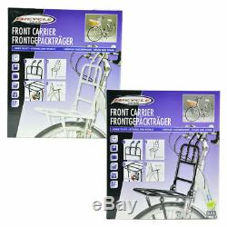 Front Bicycle Carrier Support Frame Bike Cycle Luggage Black White Rack