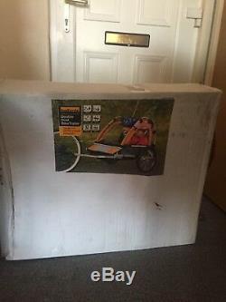 Halfords Double Seat Bike Trailer new in box child children carrier
