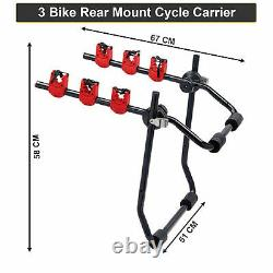 High Quality Rear Trunk Boot Mount 3 Bicycle Carrier Car Rack Bike Cycle