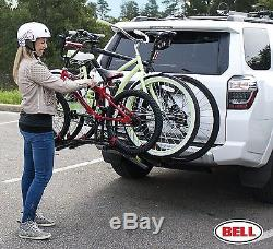 Hitch Bike Rack Cargo Carrier Rear Mount Bicycle Stand Folding Holder Cycling
