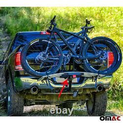 Hitch Mounted Foldable Bike Rack 2 Bicycle Carrier 2 Receiver for Car Truck SUV