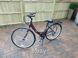 Ladies Hybrid bike+carrier+stand Apollo Elyse 700c (18 alloy Frame) 21 Speed