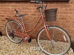 Ladies Traditional Bicycle Womens Retro Look Bike With Basket Mudguards Carrier