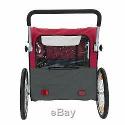 Large dog bike trailer pushchair carrier stroller jogging kit pet bicycle ride