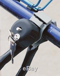 Lockable Car & 4x4 Roof Bar 1 Single 15kg Bike Bicycle Travel Rack Carrier NEW