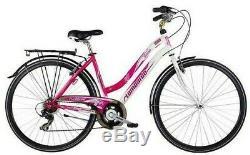 Lombardo Siena 100 Ladies Hybrid Bike 19 Frame 700c Wheel + Mudguards & Carrier