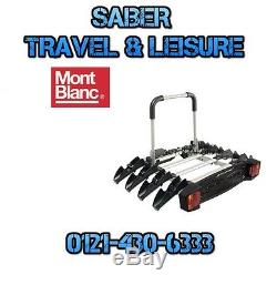 Mont Blanc Towvoyage Tow Voyage 4 Carries 4 Cycle Bike Carrier 205054
