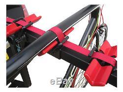 MaxxRaxx 4x4 4 Bike Cycle Carrier Rack Towbar Mounted 250mm Offset Spare Wheel
