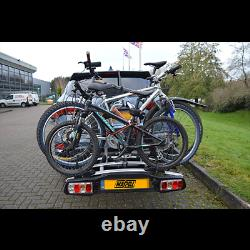 Maypole Towball Mounted Car Rear Tow Bar Cycle Holder 3 Bike Carriers -45kg Load