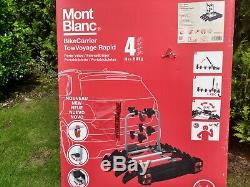 Mont Blanc towbar mounted 4 bike carrier rack