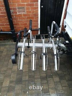 Mottez 4 Bike Tow Bar Cycle Carrier Very Strong Construction With Tilt Mechanism