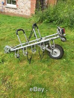Mottez 5 Bicycle Bike Cycle Carrier Rack Trailer Transport for Towbar