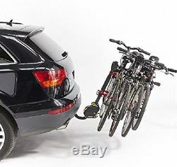 Mottez A009P4RA 4-Bike Tilting Hang On Tow Ball Mounted Cycle Carrier