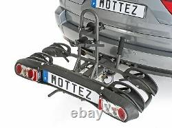 Mottez Towball Tilting Bicycle Carrier Rack for 2 Two Bikes Folding