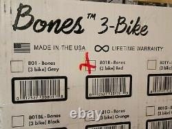 NEW Saris 801 Red Super Bones Trunk Bike Rack Carrier (Mounts 3 Bikes)