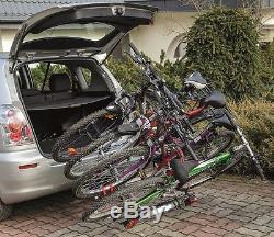 New Model GIRO 4 Towbar Mounted Tilting 4 Bike Rack / 4 Cycle Carrier 4x4