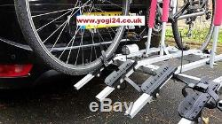 New Model Titan 4 Towbar Mounted Tilting 4 Bike Rack / Four Cycle Carrier