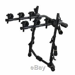 Overdrive Sport 3-Bike Trunk Mounted Bicycle Carrier Rack Fits Most Vehicles