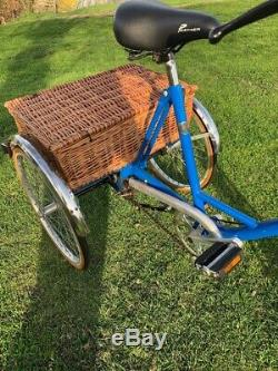 Pashley Picador Adult Tricycle 3 Wheeled Wheeler 3 Speed Wicker Rear Carrier