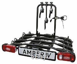 Pro User Amber IV Towbar Mounted Bike Rack (4 bike), Cycle Carrier For Tow Bar