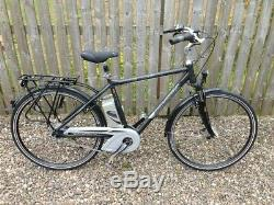 Raleigh Dover Deluxe Premium Electric Bicycle, Ebike, Rear Carrier, Lights