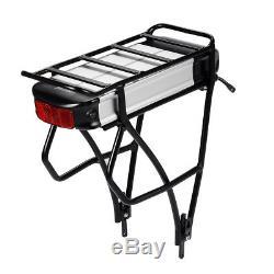 Rear Battery 36V13Ah(481Wh) E-bike Li-ion Battery for V brake with Black Carrier