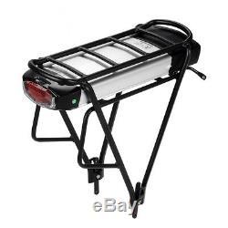 Rear Battery 36V16Ah(592Wh) E-bike Lithium-ion Battery for V brake Black Carrier