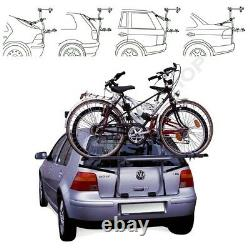 Rear Mounted 3 Bikes Bike Carrier Rack Cycle Holder Trunk Mount STEEL BIKE 3
