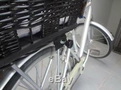 Rear Mounted Bike / Bicycle Wicker BASKET Pet Dog carrier Safe Transport Travel