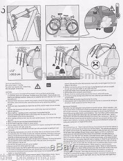 Saris BONES 3 #801BL Bike Car Trunk BLACK Rack Carrier US Lifetime Warranty