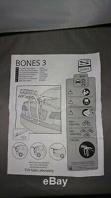 Saris Bones 3 Bike Carrier, Car Boot Fitting Rack Yellow
