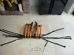 Saris Bones 3 Bike Rack Orange, Excellent Condition. Rear Cycle Carrier