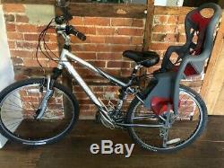 Silver Ladies Specialized Trek Navigator 200 Bike With Child Carrier/cat Eye/etc
