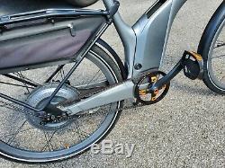 Smart Mercedes ebike Electric Bike Front Shocks Silver Orange Luggage Carrier