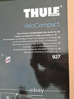 THULE 927 VeloCompact 3 Bike Cycle Carrier Tow Bar Mounted Bike Rack. (BRAND NEW)