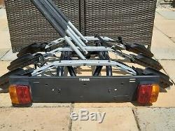 THULE 9403 three bike upright cycle carrier towbar mounted