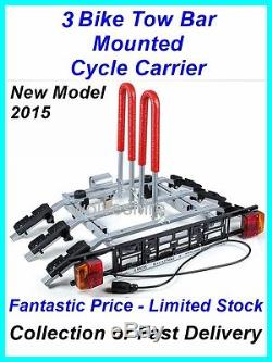 Tilting Towbar Mounted Cycle Carrier For 3 Bikes Bicycles Ideal Hyundai Sant Fe