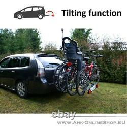 TITAN2 Towbar Mounted 2 Bike Rack Cycle Carrier Tilting Theft Protection 7/13pin
