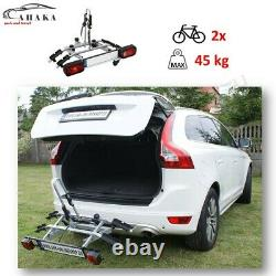 TITAN2 Towbar Mounted 2 Bike Rack Cycle Carrier Tilting Theft Protection 7/13pin