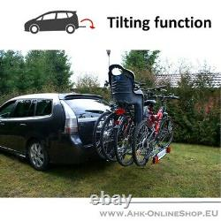 TITAN Towbar Mounted 4 Bike Rack Cycle Carrier Tilting Theft Protection 7/13 pin