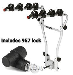 Thule 4 Bike Cycle Carrier Rack Tow Bar Ball Mounted Lockable 9708 & 957