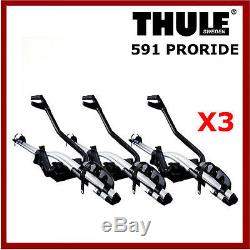 Thule 591 ProRide Triple Pack Roof Mount Cycle/Bike Carriers Free Fast P&P X3
