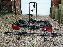 Thule 913 3 Bike Tow Bar Carrier with additional attachment for a 4th bike